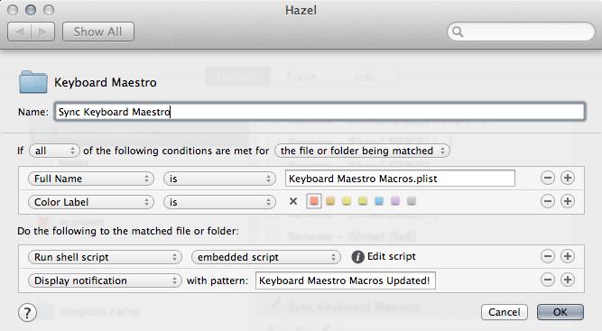 hazel-km-sync-rule