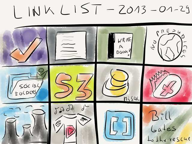 Link List – Jan 29, 2013 → via @_patrickwelker