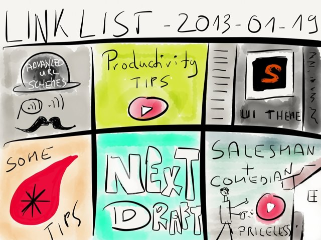 Link list – Jan 19, 2013 → via @_patrickwelker