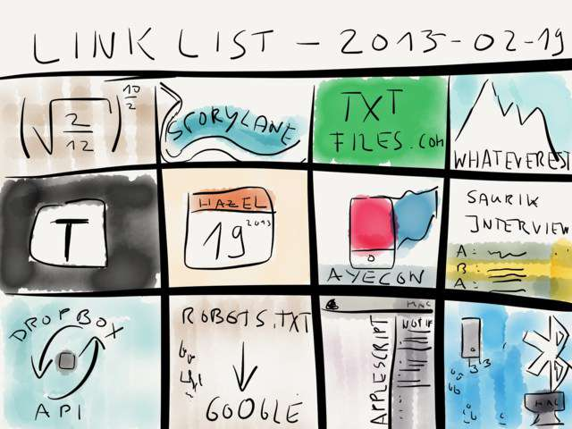 Link list – Feb 19, 2013 → via @_patrickwelker