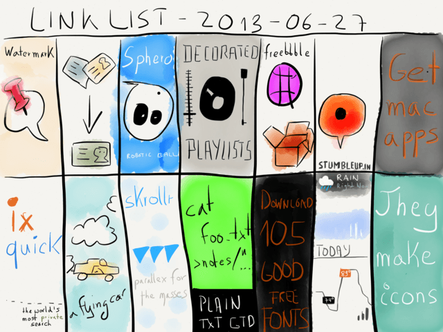 Link List – June 27, 2013 → via @_patrickwelker