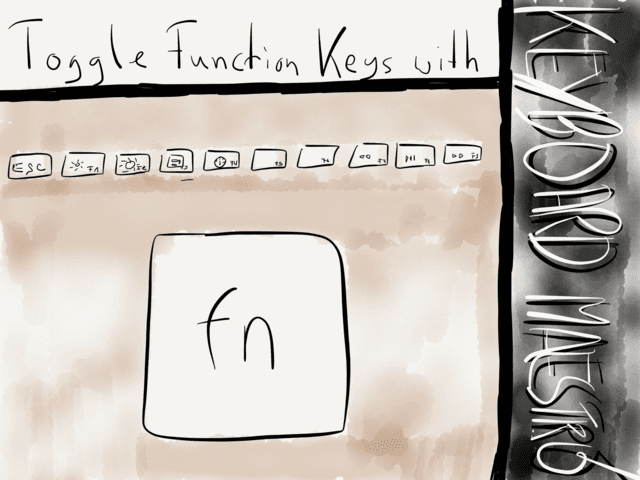 Toggle Function Keys with Keyboard Maestro → via @_patrickwelker