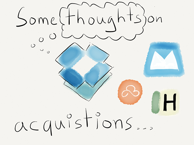 Thoughts on Dropbox's acquisitions → via @_patrickwelker