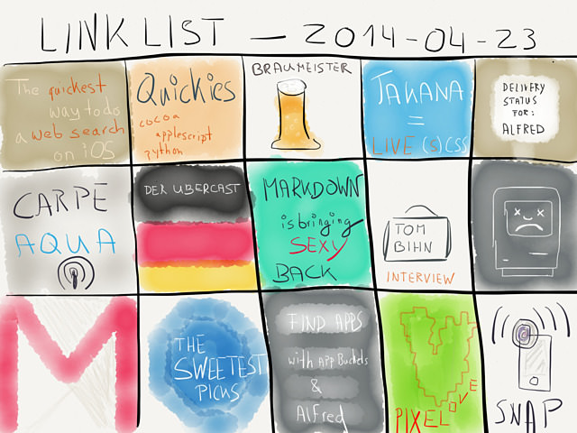 Link List – April 23, 2014 → by www.rocketink.net → via @_patrickwelker
