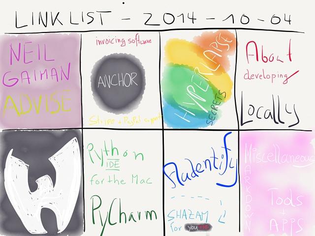 Link List – October 4, 2014 → by www.rocketink.net → via @_patrickwelker